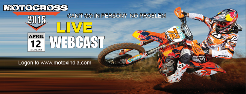 MotoXndia.com Announces Exclusive Webcast of MOTOCROSS 2015