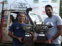 Gurmeet Virdi (Left) and his co-driver Kirpal Singh