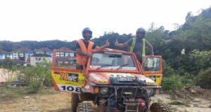 Gurmeet Virdi (left) and co-driver Kirpal Singh Tung at RFC Grand Final 2016 in Malaysia