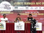 (From Left to Right) Mr, Anant Gurav from Force Motors Ltd, Mr. Ashish Gupta (Director, Cougar Motorsport Pvt. Ltd) and Mr. Ashesh Dukle (Competition Relationship Officer, RFC India)