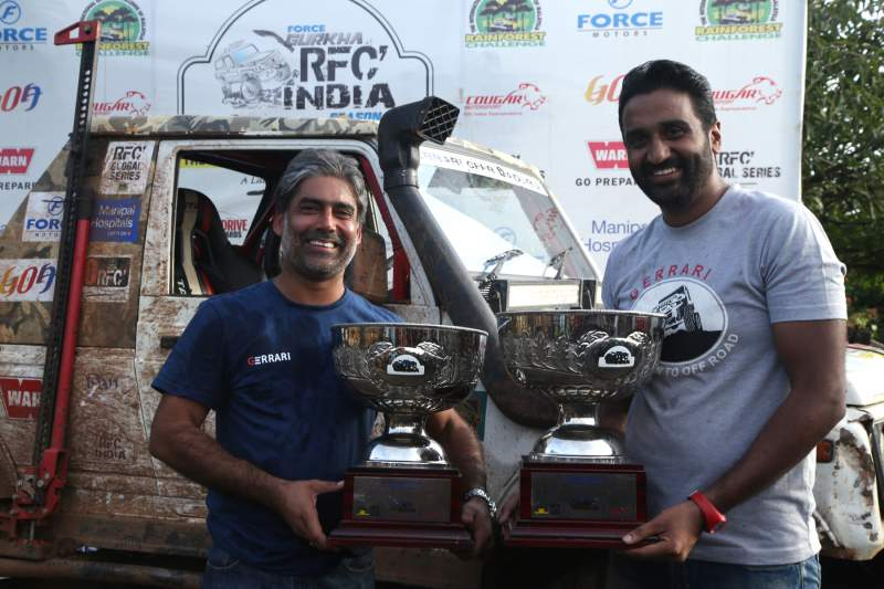 Gerrari Offroaders Chandigarh's Gurmeet Virdi (Left) and his co-driver Kirpal Singh Tung