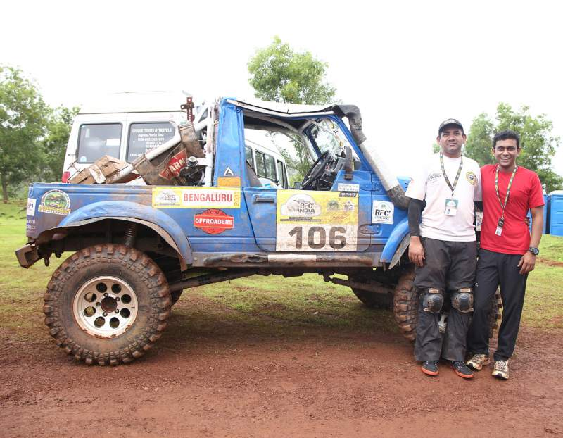 Siddartha Santosh (Right) with co-driver Prithviraj AC