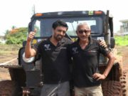 Jagat Nanjappa (right) with co-driver Chetan Changappa