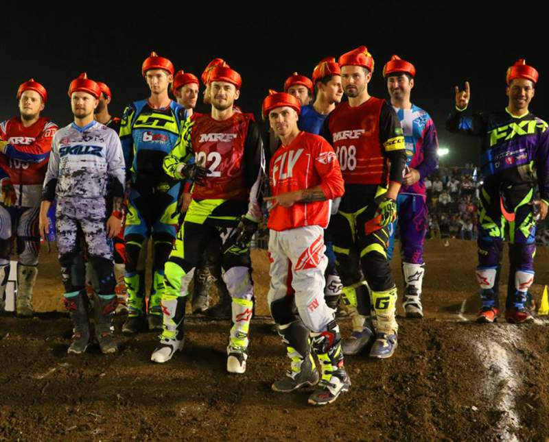 Bubba Pauli with other International-Riders in India