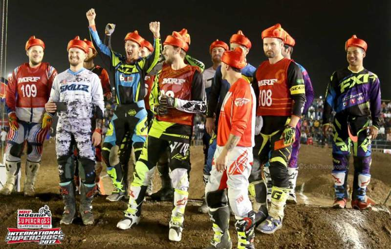 David Pulley (extreme right) with other International-Riders in India